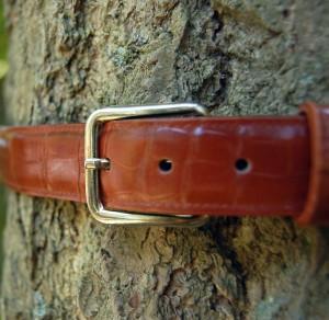 Replica snake skin belt