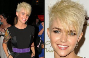 Ruby Rose goes platinum blonde